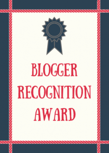 Certificate for blogger recognition award